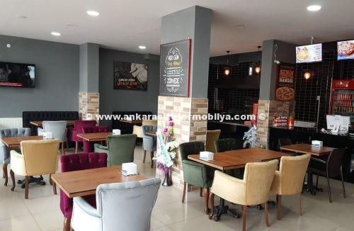 Cafe masa berjer sandalye imalat